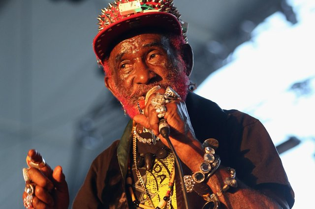 """Lee """"Scratch"""" Perry onstage at the 2013 Coachella Valley Festival in Indio, California. (Picture: Karl Walter/Getty Images)"""