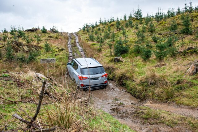 The Rexton is impressively capable off road
