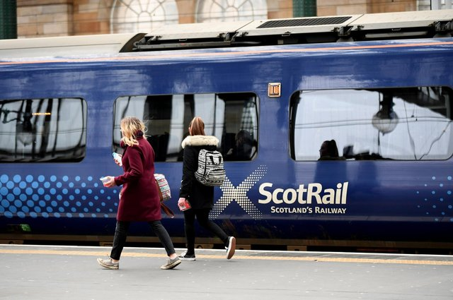 Suburban services around Glasgow will be among the only ScotRail trains running on Sunday. Picture: John Devlin