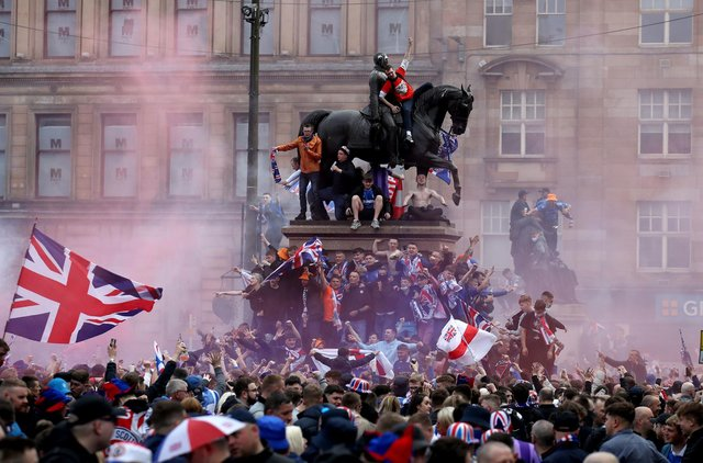 Scottish Football Association condemns behaviour of Rangers fans in wake of Saturday's title win