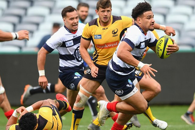 Sione Tuipulotu in action for Melbourne Rising against Western Force. Picture: Quinn Rooney/Getty Images