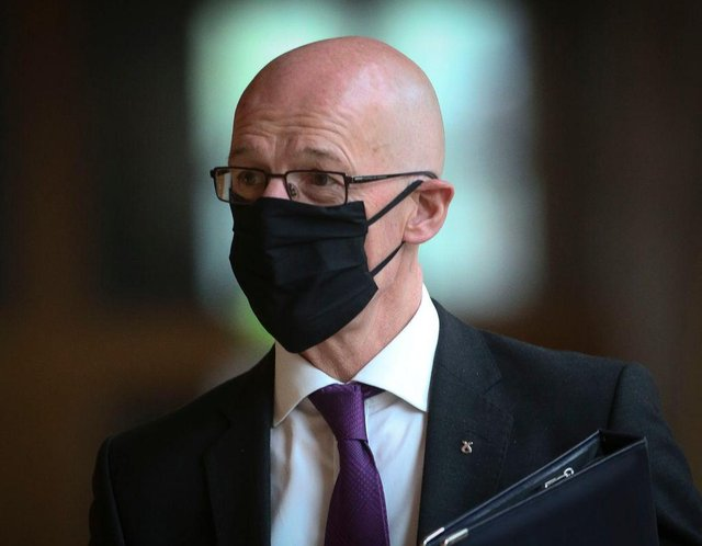 National 5 exams have already been cancelled in Scotland due to the Covid-19 pandemic but a decision on the more advanced tests have been given the provisional go-ahead by John Swinney. (Photo by Fraser Bremner - WPA Pool/Getty Images)