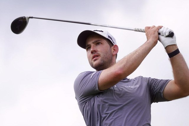 Bradley Neil during the third round of the Kaskada Golf Challenge at Kaskada Golf Resort in Brno, Czech Republic. Picture: Johannes Simon/Getty Images.