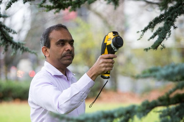 Professor Rohinton Emmanuel, director of Glasgow Caledonian University's BEAM Centre, is leading a project that aims to help save lives in the cities worst hit by climate warming