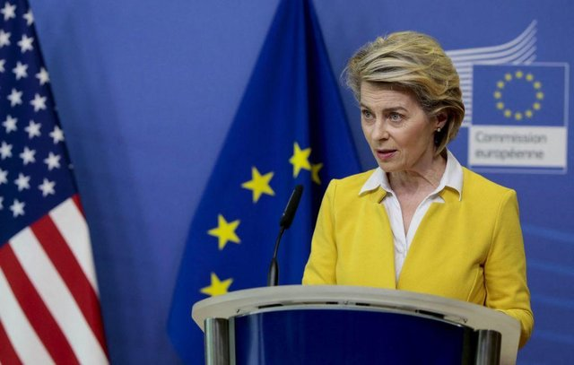 European Commission President Ursula von der Leyen said she would push ahead with attempts at toughening the bloc's vaccine export restrictions to Britain, despite both sides issuing a joint statement agreeing to work together to achieve a win-win deal.