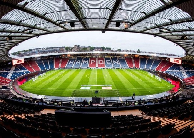 Hampden Park is due to host for four matches at the Euros this summer.