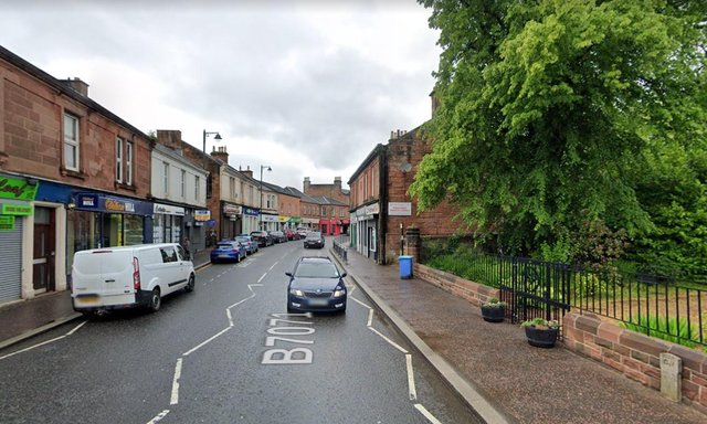Main Street in Bothwell where the 13-year-old boy was hit in a hit and run picture: Google maps