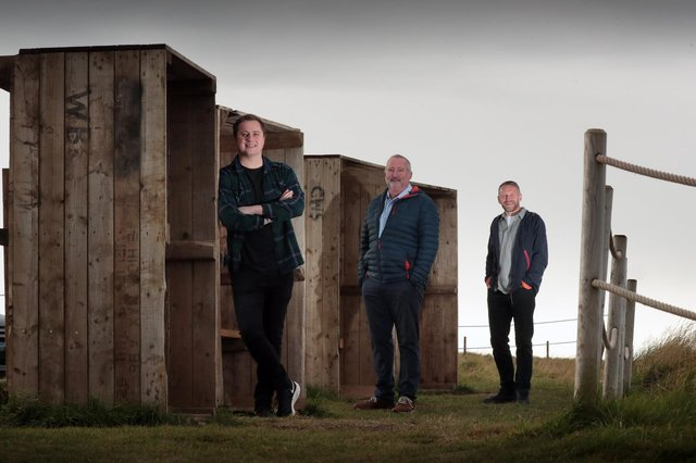 Left to right are Jack Francis, Neil Francis and Paul Reid of Pogo Studio, the software start-up based in Edinburgh. Picture: Stewart Attwood Photography