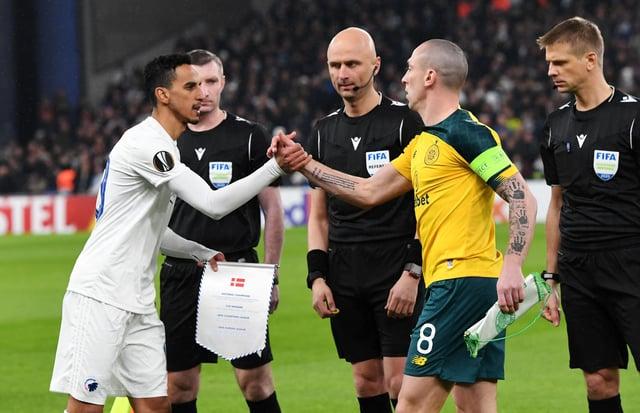 Celtic's Europa League match against FC Copenhagen in Denmark kicked off late.