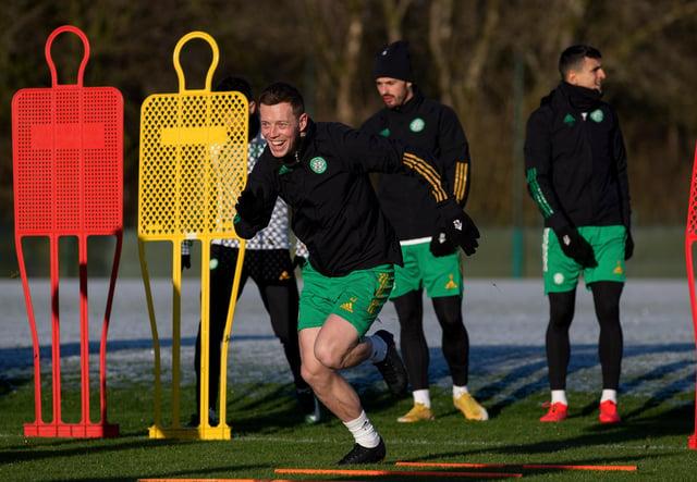 Callum McGregor during Celtic training at Lennoxtown. Picture: SNS