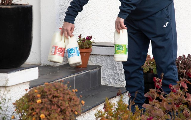 The demand for milk deliveries have rocketed.