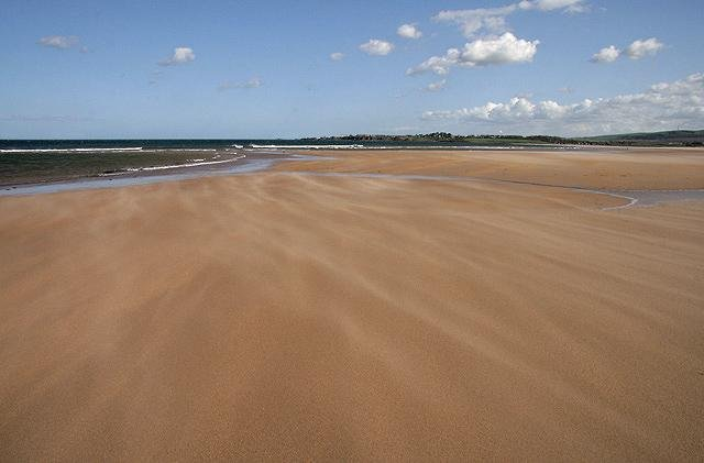 Places like Bellhaven Beach near Dunbar could be lost. Picture: Geograph