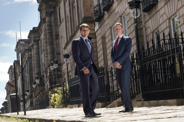 Graeme Hartop and Colin Tate of Edinburgh-based private bank Hampden & Co. Picture: Stewart Attwood