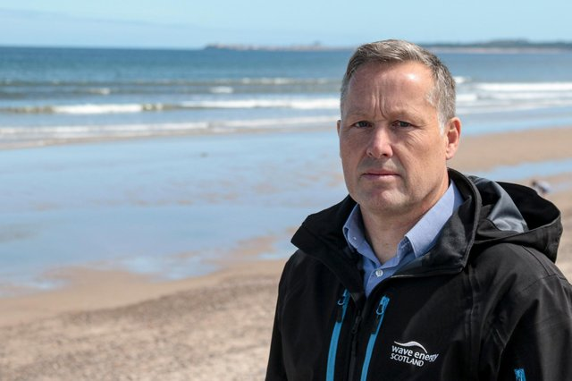 Tim Hurst, CEO, Wave Energy Scotland at Findhorn Beach, Moray. Picture: Marc Hindley