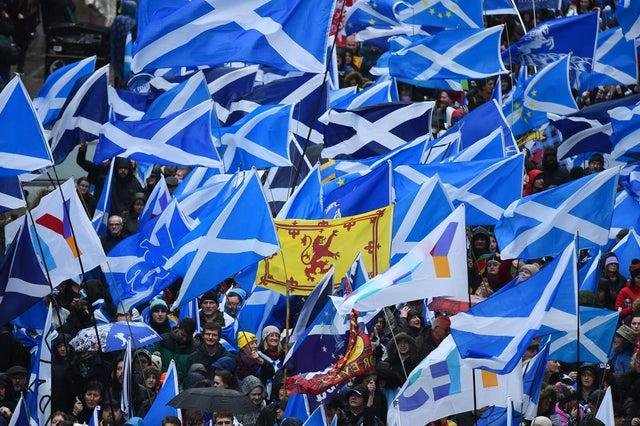 More than half of the UK public believe a second Scottish independence referendum should take place if the SNP gains a Holyrood majority, according to a poll.