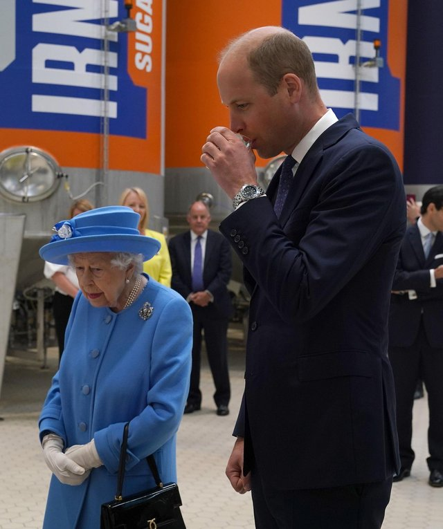 Irn-Bru: Prince Williams says 'you can taste the girders in it'after sampling Irn-Bru on factory visit with The Queen.