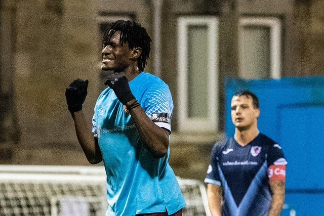 Armand Gnanduillet enjoyed a fruitful Hearts debut against Raith Rovers.