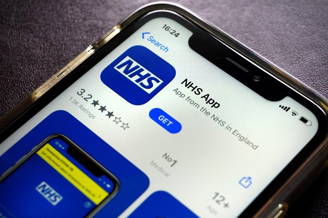 From next week the NHS England app will function as a Covid passport (Picture: Getty)