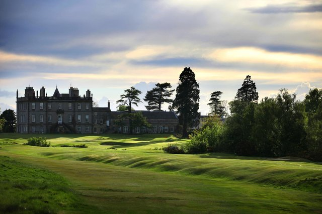 The 18th fairway on the East Course at Dalmahoy