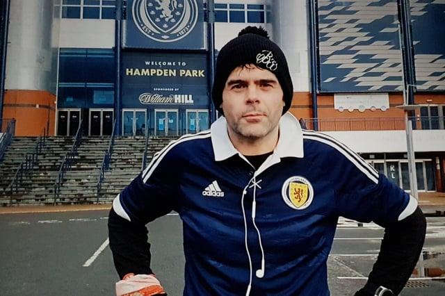 Ian Watts ran 23 laps of Hampden Park after Scotland beat Serbia tin the Euro 2020 play-off final