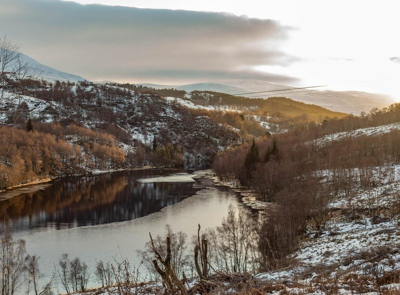 A wintery Dunalastair Water captured by Neah McGregor.