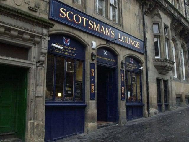 The 110-year-old Scotsman Lounge on Edinburgh's Cockburn Street