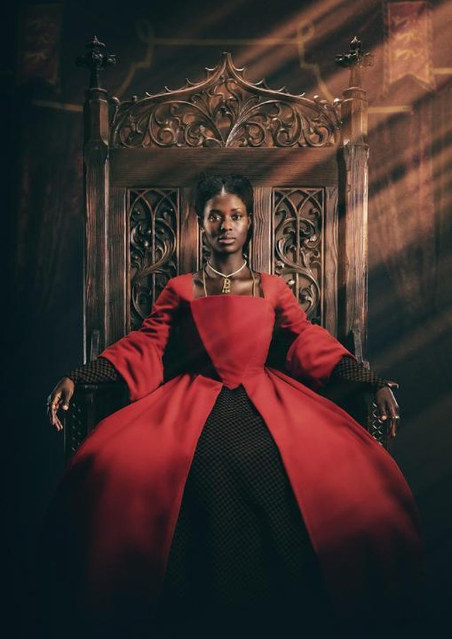 Jodie Turner-Smith as Anne Boleyn in the new Channel 5 TV series. Picture: PA Photo/ViacomCBS Networks International