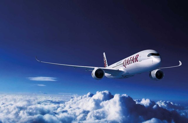 Qatar Airways links Edinburgh with its Doha hub for long-haul connections.
