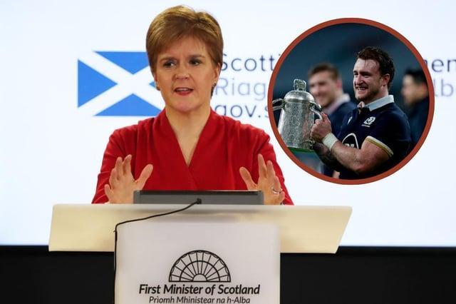 Nicola Sturgeon congratulates Scottish rugby team as she responds to take the knee debate