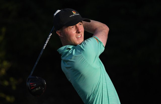 Craig Howie hits off on the third tee during day two of the Golf in Dubai Championship at Jumeirah Golf Estates. Picture: by Ross Kinnaird/Getty Images