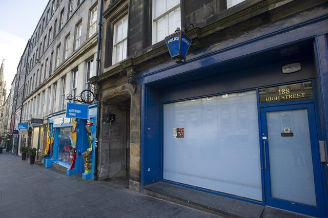 The former police station in the High Street, (Royal Mile) Edinburgh.  Picture Ian Rutherford