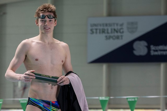 Duncan Scott graduated from the University of Stirling with a 2:1 before heading out to Tokyo for the Olympics. (Picture: JeffHolmes / University of Stirling)