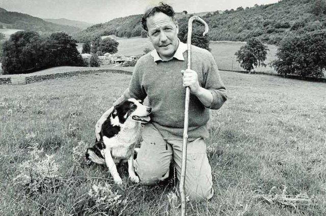 Patrick Gordon-Duff-Pennington and one of his sheepdogs