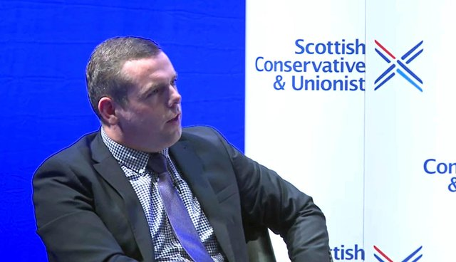 Scottish Conservative Leader Douglas Ross speaking at the start of the Scottish Conservative Virtual Conference.