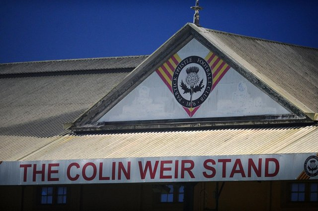 The Colin Weir Stand at Firhill. Picture: Michael Gillen