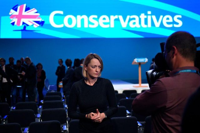 Laura Kuenssberg at the Conservative Party annual conference in 2017 (Photo: OLI SCARFF/AFP via Getty Images)