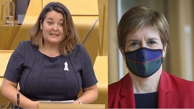 The First Minister Nicola Sturgeon has said she is 'sending love and strength' to Ruth Maguire, AyrshireSNP MSP, after she announced she has been diagnosed with stage three cervical cancer.