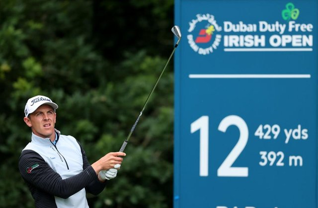 Grant Forrest tees off on the 12th hole during the second round of the Dubai Duty Free Irish Open at Mount Juliet Golf Club in Thomastown. Picture: Warren Little/Getty Images.
