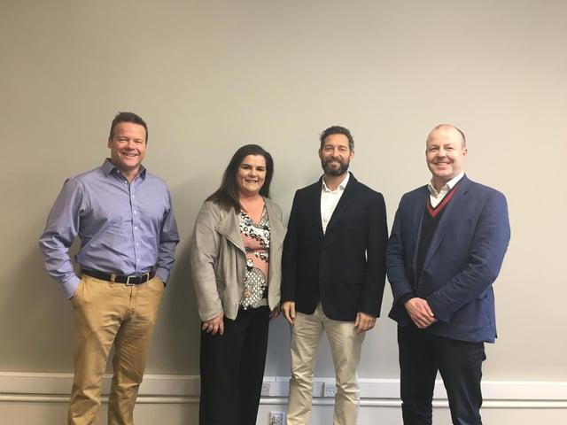 From left: Gilson Gray's Matthew Gray, Elaine Wallace, managing partner Glen Gilson and Derek Tyson.