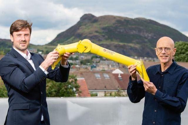 Cameron McNatt and Chris Retzler of Mocean Energy. Picture: Ian Georgeson