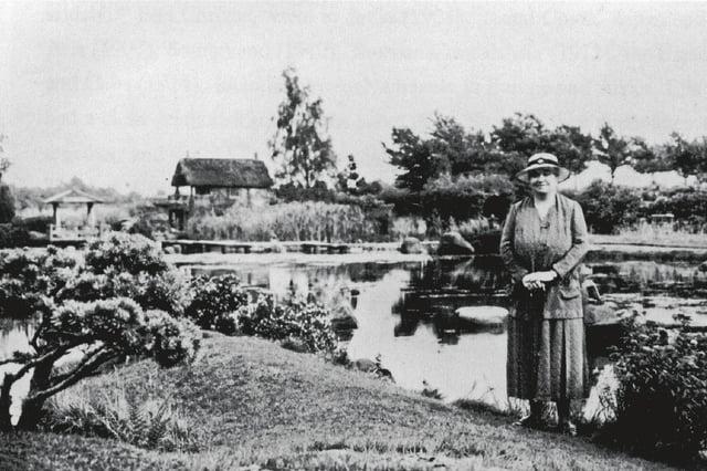 Ella Christie in the Japanese Garden she created at Cowden near Dollar in 1908