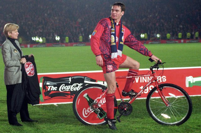 Stephen Glass was man of the match for Aberdeen back in 1995 when they won the League Cup - earning a bike from sponsors Coca Cola for his exploits.