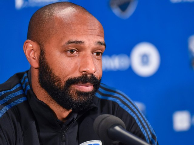 Thierry Henry was Head coach of the Montreal Impact.  (Photo by Minas Panagiotakis/Getty Images)