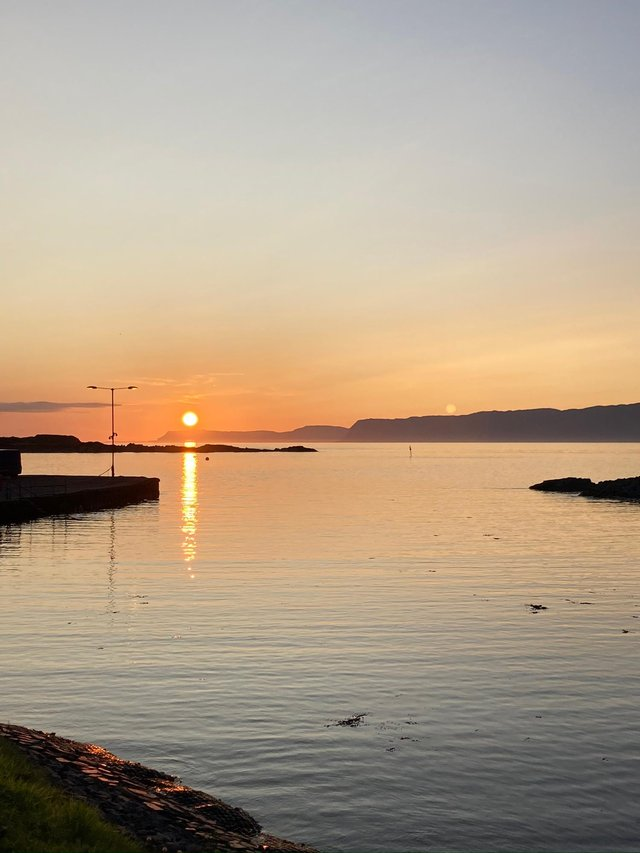 Sunset over the Slate Islands in Argyll. PIC: BBC ALBA.