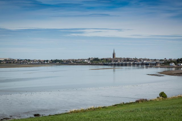 The Angus town of Montrose would be wiped out if an ancient tsunami that struck the east coast around 8,000 years ago happened today, researchers have found. PIC: Visit Angus.