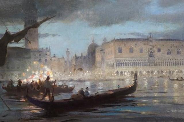 Detail from La Musica Veneziana, by Charles Mackie