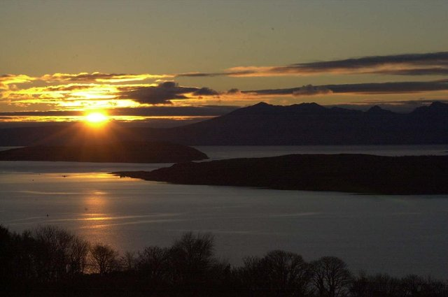 Sunset over Arran as seen from Haylie Brae in Largs, North Ayrshire (Picture: Allan Milligan)