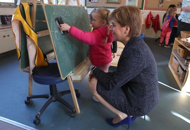 Nicola Sturgeon said Scotland should judge her on Education