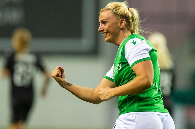 Hibernian's Siobhan Hunter will be delighted to be training again and can now look forward the league starting on April 4.