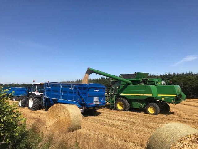 Harvest underway in East Lothian